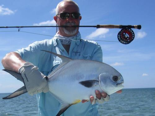 John George with a superb Permit on a Beulah 10 wt..., USA Trips